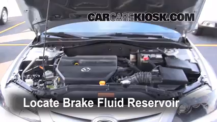 2006 Mazda 6 i 2.3L 4 Cyl. Sedan (4 Door) Brake Fluid Check Fluid Level