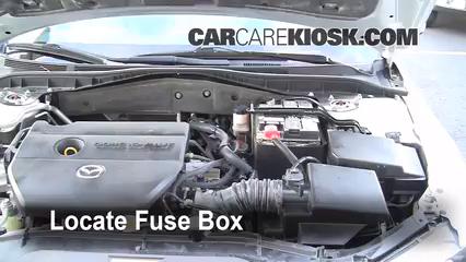 interior fuse box location 2003 2008 mazda 6 2006 mazda 6 i 2 3l rh carcarekiosk com 2008 Mazda 6 Fuse Box Diagram Fuse Boxes for 2009 Mazda 6