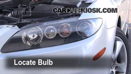 headlight change 2003 2008 mazda 6 2006 mazda 6 i 2 3l 4 cyl rh carcarekiosk com 2005 Mazda 6 Sport 2006 Mazda 6
