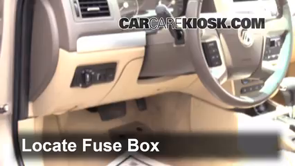 interior fuse box location 2006 2011 mercury milan 2006 mercury rh carcarekiosk com 2007 Mercury Montego Fuse Box Diagram 2006 Ford Crown Victoria Fuse Box Diagram