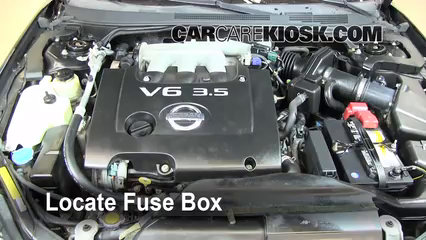 2006 Nissan Altima SE 3.5L V6%2FFuse Engine Part 1 blown fuse check 2002 2006 nissan altima 2006 nissan altima se 2004 nissan maxima fuse box diagram under hood at webbmarketing.co