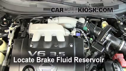 2006 Nissan Altima SE 3.5L V6 Brake Fluid Add Fluid