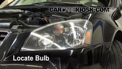 2006 Nissan Altima SE 3.5L V6 Lights Highbeam (replace bulb)