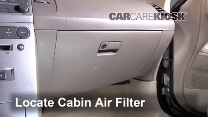 2006 Nissan Maxima SE 3.5L V6 Air Filter (Cabin)