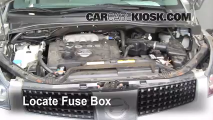 replace a fuse 2004 2009 nissan quest 2006 nissan quest s 3 5l v6 rh carcarekiosk com 2004 nissan maxima fuse box diagram under hood 2004 nissan maxima fuse box diagram under hood