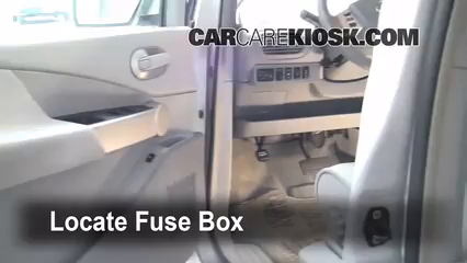 interior fuse box location 2004 2009 nissan quest 2006. Black Bedroom Furniture Sets. Home Design Ideas