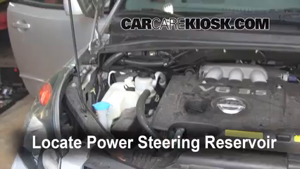 2006 Nissan Quest S 3.5L V6 Power Steering Fluid