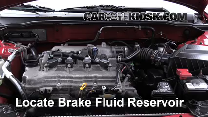 2006 Nissan Sentra S 1.8L 4 Cyl. Brake Fluid Check Fluid Level