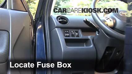 Interior Fuse Box Location: 2004-2006 Scion xB - 2006 Scion xB 1.5L ...