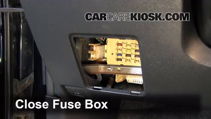 Interior Fuse Box Location: 2004-2006 Scion xB - 2006 Scion xB 1.5L