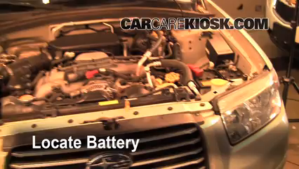 2006 Subaru Forester X 2.5L 4 Cyl. Battery Replace