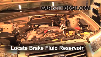 2006 Subaru Forester X 2.5L 4 Cyl. Brake Fluid Add Fluid