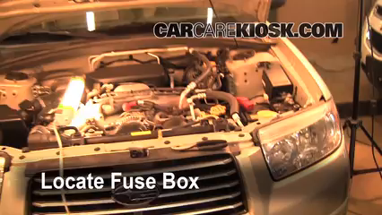 2006 Subaru Forester X 2.5L 4 Cyl. Fuse (Engine) Replace