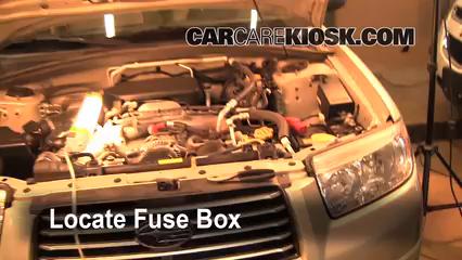2003 2005 subaru forester interior fuse check 2003 subaru forester2006 subaru forester x 2 5l 4 cyl fuse (engine) replace