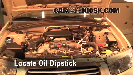 2006 Subaru Forester X 2.5L 4 Cyl. Oil Check Oil Level