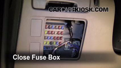 interior fuse box location 2002 2006 toyota camry 2005
