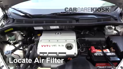 2006 Toyota Sienna LE 3.3L V6 Air Filter (Engine)