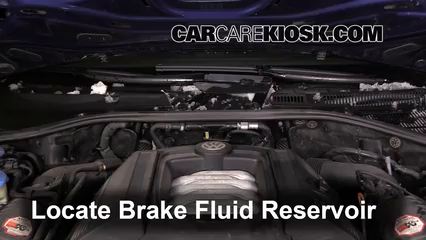 2006 Volkswagen Touareg 4.2L V8 Brake Fluid Check Fluid Level