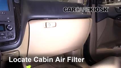 2006 Acura MDX Touring 3.5L V6 Filtre à air (intérieur)