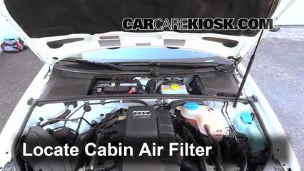 2006 Audi A4 Quattro 2.0L 4 Cyl. Turbo Filtro de aire (interior)