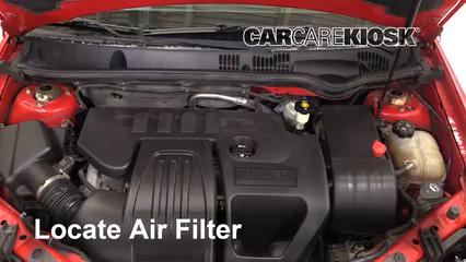 2006 Chevrolet Cobalt LT 2.2L 4 Cyl. Coupe (2 Door) Filtre à air (moteur)