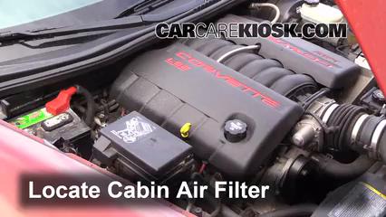 2006 Chevrolet Corvette 6.0L V8 Convertible Filtro de aire (interior)