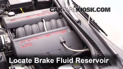 2006 Chevrolet Corvette 6.0L V8 Convertible Líquido de frenos