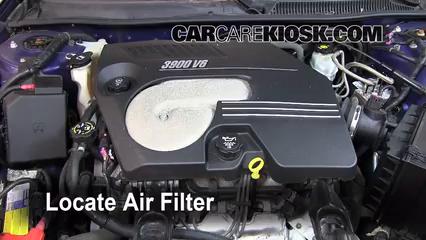 2006 Chevrolet Monte Carlo LT 3.9L V6 Air Filter (Engine)