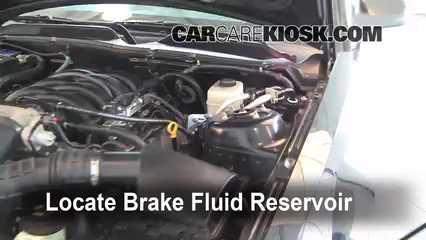 2006 Ford Mustang GT 4.6L V8 Coupe Brake Fluid Check Fluid Level