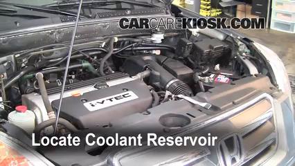 2006 Honda CR-V SE 2.4L 4 Cyl. Antigel (Liquide de Refroidissement) Vérifiez le niveau d'antigel
