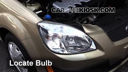 2006 Kia Rio 1.6L 4 Cyl. Lights Parking Light (replace bulb)