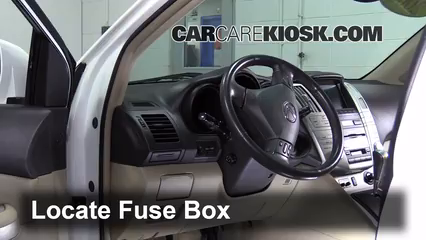 interior fuse box location: 2004-2009 lexus rx350 - 2008 lexus rx350 3.5l v6  carcarekiosk