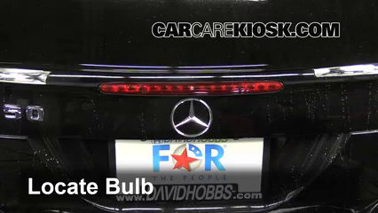 2006 Mercedes-Benz CLK350 3.5L V6 Convertible (2 Door) Luces Luz de freno central (reemplazar foco)