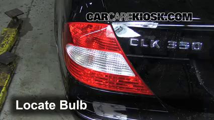 2006 Mercedes-Benz CLK350 3.5L V6 Convertible (2 Door) Luces Luz trasera (reemplazar foco)