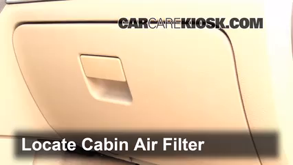 2006 Mercury Milan Premier 3.0L V6 Air Filter (Cabin) Check