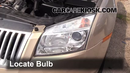 2006 Mercury Milan Premier 3.0L V6 Lights Headlight (replace bulb)