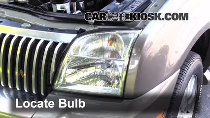 2006 Mercury Mountaineer Convenience 4.0L V6 Luces Luz de carretera (reemplazar foco)