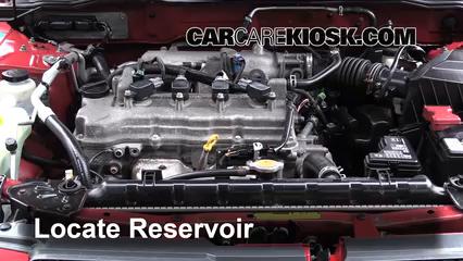 2006 Nissan Sentra S 1.8L 4 Cyl. Líquido limpiaparabrisas Controlar nivel de líquido