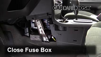 Interior Fuse Box Location: 2003-2007 Saturn Ion-1 - 2003 Saturn Ion-1 2.2L  4 Cyl.   2007 Saturn Ion Fuse Box      CarCareKiosk