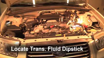 2006 Subaru Forester X 2.5L 4 Cyl. Transmission Fluid