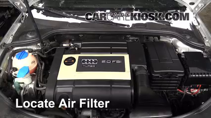 Air Filter HowTo Audi A Audi A L Cyl Turbo - Audi s3 engine