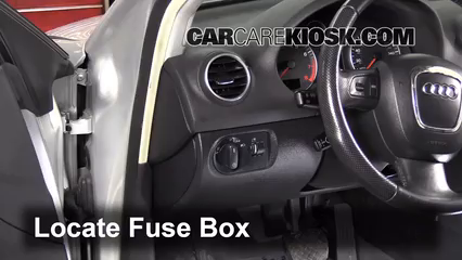 interior fuse box location 2006 2013 audi a3 2007 audi a3 2 0l 4 rh carcarekiosk com 1999 Audi A4 Fuse Box Diagram 2002 Audi A4 Fuse Box Diagram