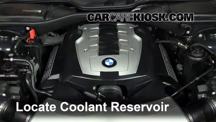 How to Add Coolant: BMW 750Li (2002-2008) - 2007 BMW 750Li 4.8L V8 Bmw Engine Coolant on bmw coolant replacement, bmw coolant pump, blue coolant, car coolant, bmw engine flush, mini cooper coolant, waterless coolant, bmw oil, bmw engine filter, radiator coolant, bmw engine parts, 2003 bmw coolant, water coolant, bmw coolant fluid, bmw engine sizes, bmw coolant reservoir, antifreeze coolant, bmw coolant type, bmw coolant tank, bmw power steering fluid,