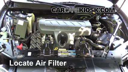 2007 buick lacrosse cxl 3 8l v6 air filter (engine) check