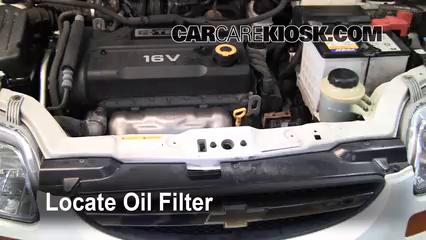 Oil Filter Change Chevrolet Aveo 2004 2011 2006 Chevrolet