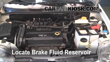 2007 Chevrolet Aveo5 Special Value 1.6L 4 Cyl. Brake Fluid Check Fluid Level