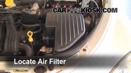 [WQZT_9871]  Air Filter How-To: 2001-2010 Chrysler PT Cruiser - 2007 Chrysler PT Cruiser  Limited 2.4L 4 Cyl. | 2007 Chrysler Pt Cruiser Fuel Filter Location |  | CarCareKiosk