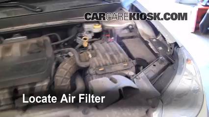 [SCHEMATICS_4CA]  2007-2010 Chrysler Sebring Engine Air Filter Check - 2007 Chrysler Sebring  Limited 2.4L 4 Cyl. | 2010 Dodge Avenger Fuel Filter |  | CarCareKiosk