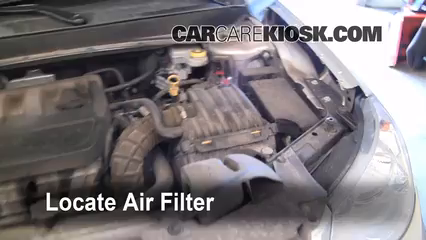 2007 Chrysler Sebring Limited 2.4L 4 Cyl. Air Filter (Engine) Replace