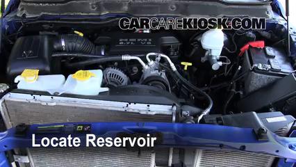 2007 dodge ram 1500 laramie 5 7l v8 extended crew cab pickup windshield  washer fluid add